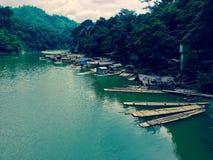 Flotteurs de bambou Photos libres de droits