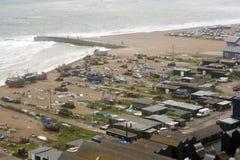 Flottiglia peschereccia britannica della linea costiera Immagini Stock Libere da Diritti