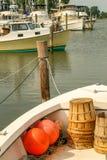 Flottiglia peschereccia lungo la linea costiera di Maryland Fotografie Stock Libere da Diritti