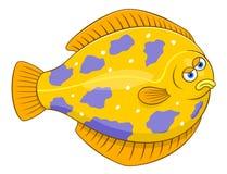 Flounder шаржа Стоковые Изображения RF