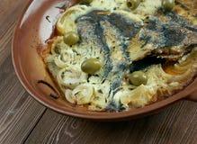 Flounder baked Stock Image