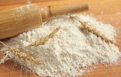 Flour. All the ingredients and utensils essential for baking Royalty Free Stock Image