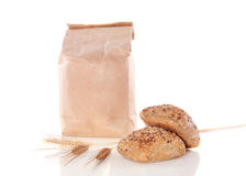Flour And Brown Multigrain Rolls Royalty Free Stock Image