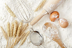 Flour background Royalty Free Stock Photography