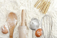 Flour background Royalty Free Stock Photo