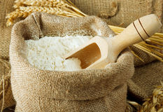 Flour in bag Royalty Free Stock Photo