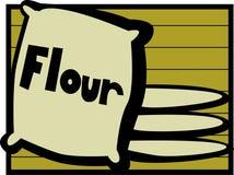 Flour bags vector illustration. Vector illustration of some flour bags Stock Photos