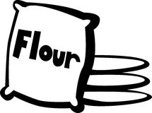 Flour bags vector illustration. Vector illustration of some flour bags Royalty Free Stock Photo