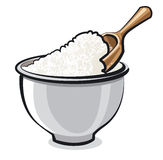 Flour in a bowl Stock Photos