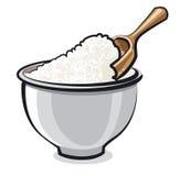 Flour in a bowl Stock Photos