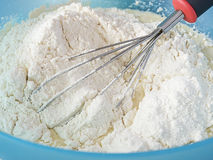 Flour in the bowl Stock Photography