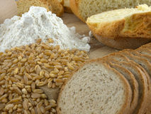 Flour and bread Stock Image