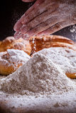 Flour and bread Royalty Free Stock Images