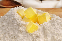 Flour and butter Stock Photos