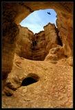 Flour cave. In Judas desert in Israel stock photos