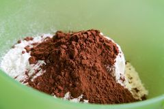 Flour and cocoa Stock Image
