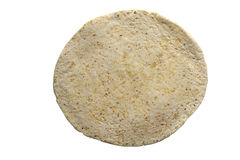 Flour and Corn Tortilla. Isolated on white Stock Photography
