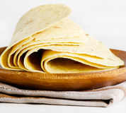 Flour and corn tortillas Royalty Free Stock Photos