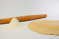 Flour and dough Stock Image
