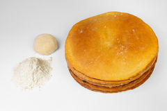 Flour and dough Royalty Free Stock Photography