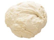 Flour dough. Close up of flour dough isolated on white Royalty Free Stock Photo