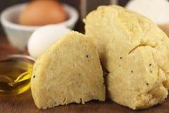 Flour dough with eggs