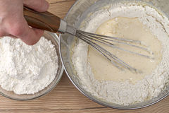 Flour and dough Royalty Free Stock Image