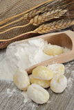 Flour dumplings gnocchi Royalty Free Stock Photography