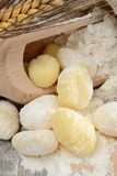 Flour dumplings gnocchi Royalty Free Stock Photo