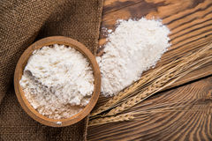 Flour from durum wheat Stock Image