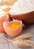 Flour and egg Stock Photography