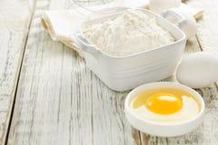 Flour, eggs Stock Images