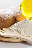 Flour, eggs, oil Royalty Free Stock Photo