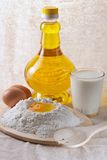 Flour, eggs, oil royalty free stock photography