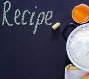 Flour and eggs Royalty Free Stock Photos