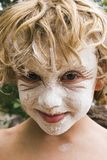 Flour Face 01 stock photos