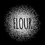 Flour in the form of white powder vector illustration Royalty Free Stock Photos