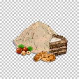 Flour And Fresh baking. piece of cake, cookie on transparent background Related Illustration In Bright Cartoon Style. Flour and baking. piece of cake, cookie on Stock Photos
