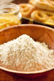 flour and fresh pastries Stock Photography