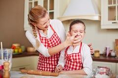 Flour fun Stock Image