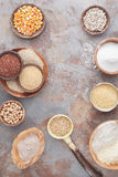 Flour and grains Royalty Free Stock Photography