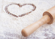 Flour heart Stock Photos