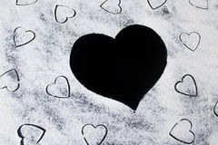 Flour in the hearts. Stock Image