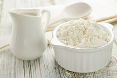 Flour, milk Stock Photography