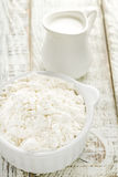 Flour and milk Royalty Free Stock Photos