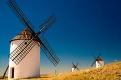 Flour mills. Consuegra. La Mancha Stock Photos