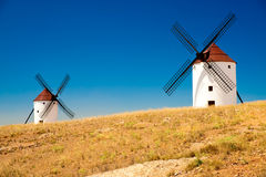 Flour mills. Consuegra. La Mancha Royalty Free Stock Photos