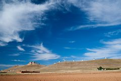 Flour mills. Consuegra. La Mancha Royalty Free Stock Photo