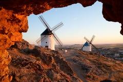 Flour mills. Consuegra. La Mancha Stock Photography