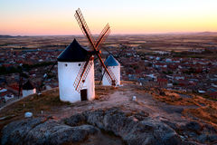 Flour mills. Consuegra. La Mancha Stock Photo